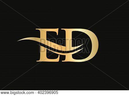 Modern Letter Ed Logo Design Vector. Initial Linked Letter Ed Logo Design With Creative, Minimal And
