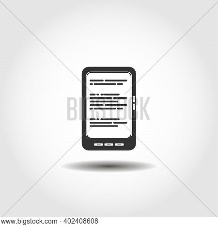 Ebook Isolated Vector Icon. Ebook Design Element