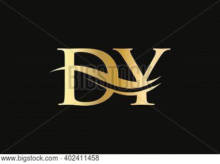 Modern Letter Dy Logo Design Vector. Initial Linked Letter Dy Logo Design With Creative, Minimal And