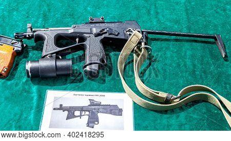 Samara, Russia - May 28, 2016: Russian Weapons. Submachine Gun