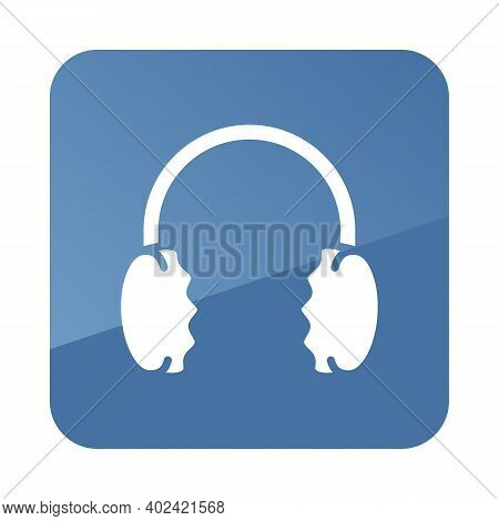 Winter Headphones Earmuffs Vector Icon. Winter Sign. Graph Symbol For Travel And Tourism Web Site An