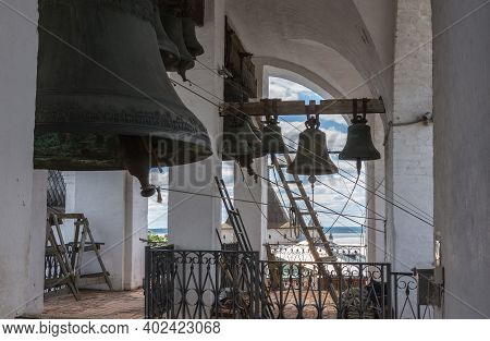 Russia June 30, 2020 The City Of Rostov The Great, View Of The Bells In The Belfry Of The Assumption
