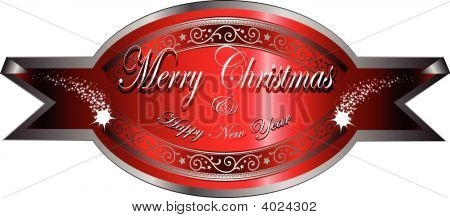 Vector Christmas Greetings Badge