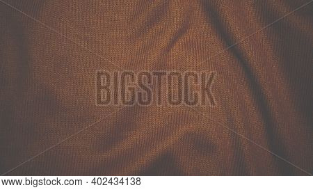Silk Texture, Textile, Fabric Background. Beautiful Fabric Backdrop For Comfort, Golden Orange Silk