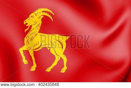 3d Flag Of Boxmeer (north Brabant), Netherlands. 3d Illustration.