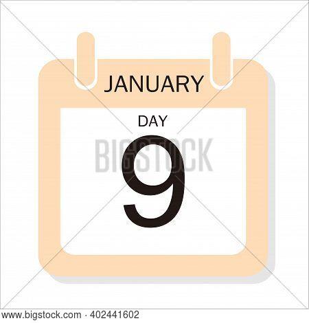 Calendar Design For January 9, 2021, 2021 Calendar Week Starts On Sunday. Printable 2021 Yearly Cale