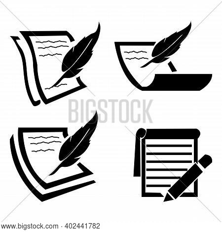 Pencil And Notebook Icon Isolated On White Background From People Collection. Pencil And Notebook Ic