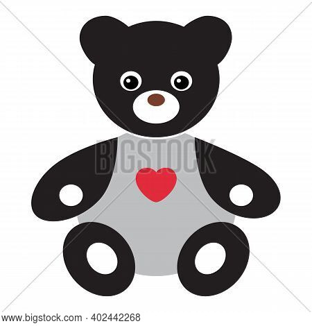 Teddy Bear Icon Isolated On White Background From Valentines Day Collection. Teddy Bear Icon Trendy