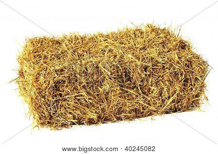 Hay Bale Isolated On White