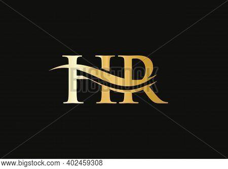 Initial Monogram Letter Hr Logo Design Vector. Hr Letter Logo Design With Modern Trendy