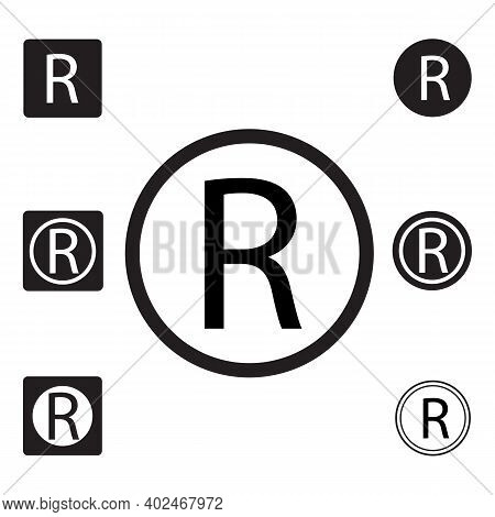 Registered Trade Mark Sign. Registered Trademark Symbol