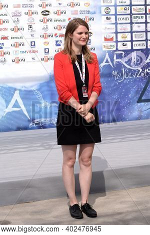 Giffoni Valle Piana, Sa, Italy - July 23, 2019 : Genevieve Dulude-de Celles At Giffoni Film Festival