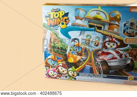 Bangkok, Thailand - January 9, 2021 : Cute Toy Of Top Wing Swift's Flash Wing Rescue In Set Suitable
