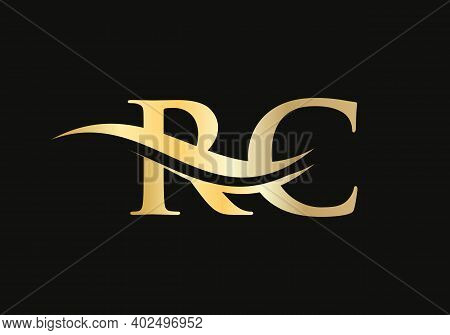 Modern Rc Logo Design For Business And Company Identity. Creative Rc Letter With Luxury Concept.