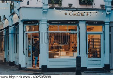 London, Uk - November 19, 2020: Facade Of Oree Cafe In Covent Garden, An Area Of London Famous For B