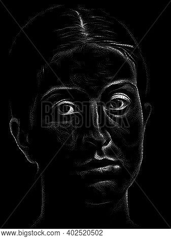 Abstract Stippling Portrait