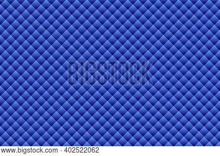Blue Geometric Shapes Background - Illustration,  Three Dimensional Mosaic Vector