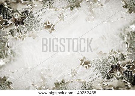 Silver Stars Background