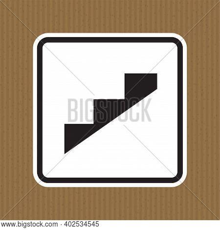 Beware Slope Step Symbol Isolate On White Background,vector Illustration Eps.10