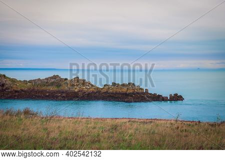 View Of Part Of The Landes Island A French Coastal Island Located In The English Channel , At Cancal