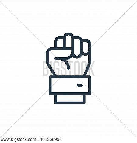 raise hand icon isolated on white background. raise hand icon thin line outline linear raise hand sy
