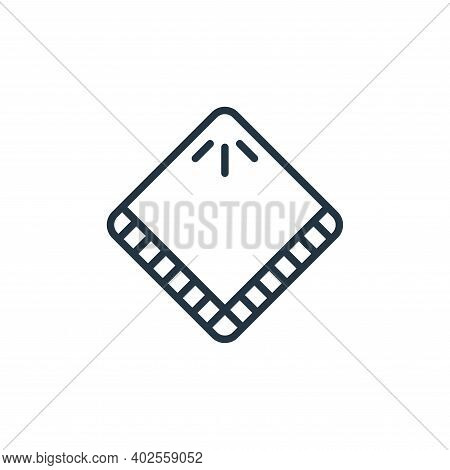 handkerchief icon isolated on white background. handkerchief icon thin line outline linear handkerch