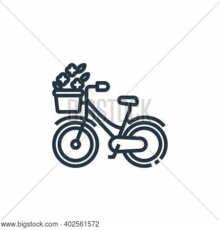 bike icon isolated on white background. bike icon thin line outline linear bike symbol for logo, web