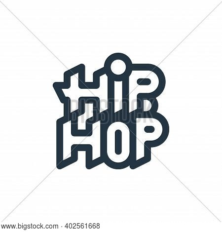 hip hop icon isolated on white background. hip hop icon thin line outline linear hip hop symbol for