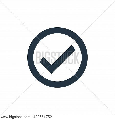 check mark icon isolated on white background. check mark icon thin line outline linear check mark sy