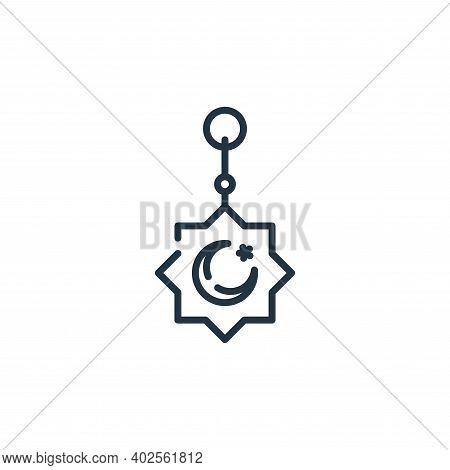 amulet icon isolated on white background. amulet icon thin line outline linear amulet symbol for log
