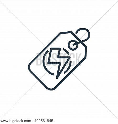flash sale icon isolated on white background. flash sale icon thin line outline linear flash sale sy
