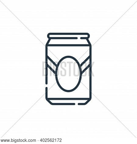 beer can icon isolated on white background. beer can icon thin line outline linear beer can symbol f