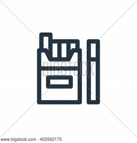 cigarettes icon isolated on white background. cigarettes icon thin line outline linear cigarettes sy