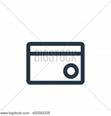 credit card icon isolated on white background. credit card icon thin line outline linear credit card
