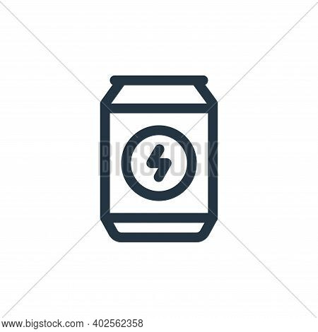 energy drink icon isolated on white background. energy drink icon thin line outline linear energy dr