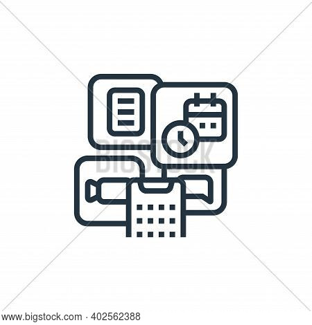 applications icon isolated on white background. applications icon thin line outline linear applicati