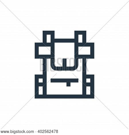 backpack icon isolated on white background. backpack icon thin line outline linear backpack symbol f
