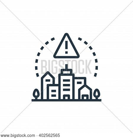 emergency icon isolated on white background. emergency icon thin line outline linear emergency symbo