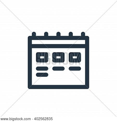 timetable icon isolated on white background. timetable icon thin line outline linear timetable symbo