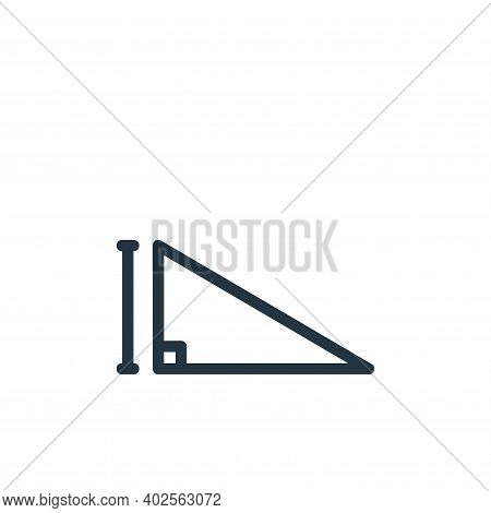 triangle icon isolated on white background. triangle icon thin line outline linear triangle symbol f