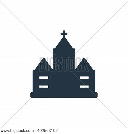 church icon isolated on white background. church icon thin line outline linear church symbol for log