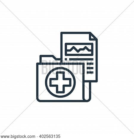 medical result icon isolated on white background. medical result icon thin line outline linear medic