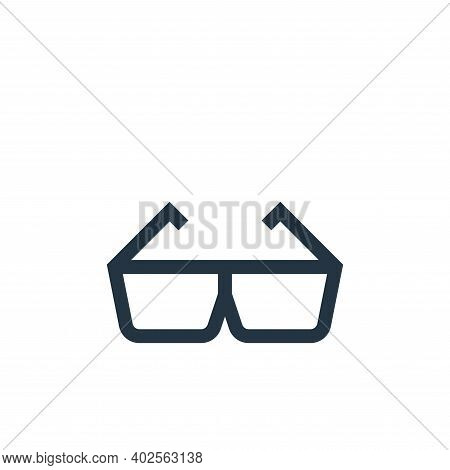 d glasses icon isolated on white background. d glasses icon thin line outline linear d glasses symbo