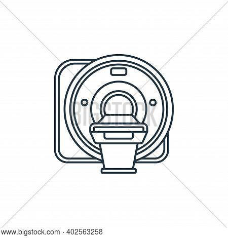 CT scan icon isolated on white background. CT scan icon thin line outline linear CT scan symbol for