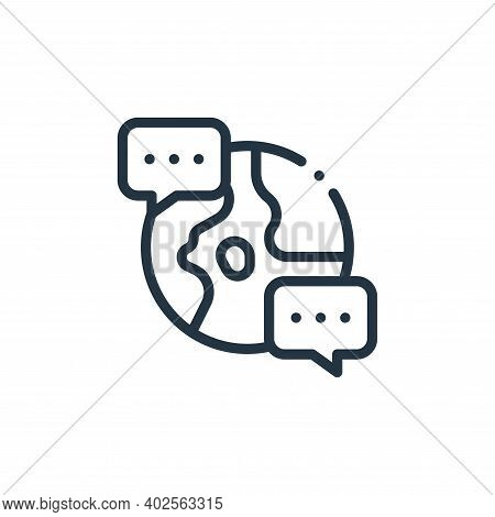 chat icon isolated on white background. chat icon thin line outline linear chat symbol for logo, web