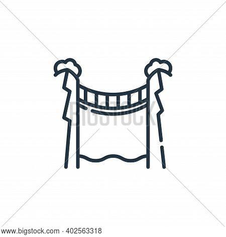 bridge icon isolated on white background. bridge icon thin line outline linear bridge symbol for log