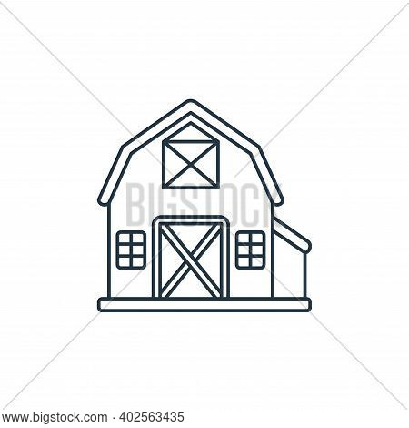 barn icon isolated on white background. barn icon thin line outline linear barn symbol for logo, web