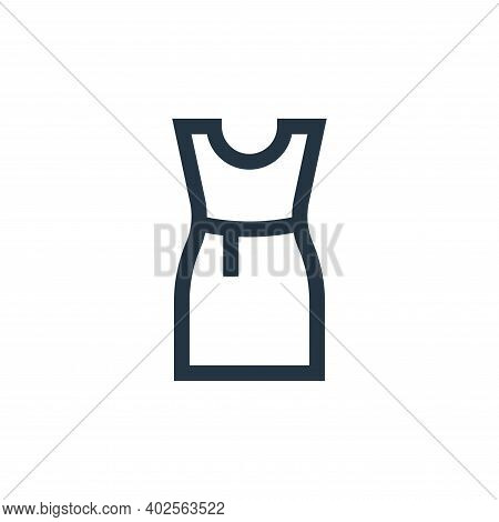 dress icon isolated on white background. dress icon thin line outline linear dress symbol for logo,