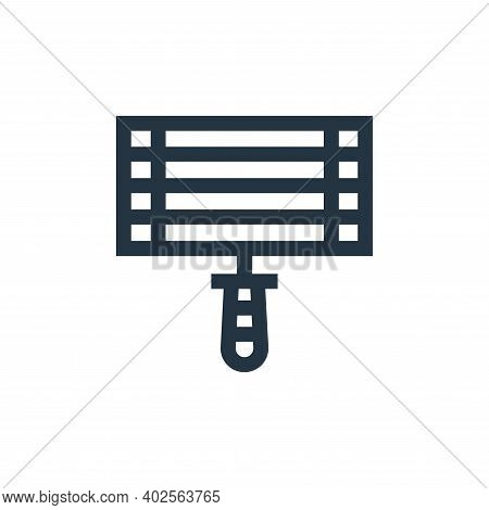grill icon isolated on white background. grill icon thin line outline linear grill symbol for logo,