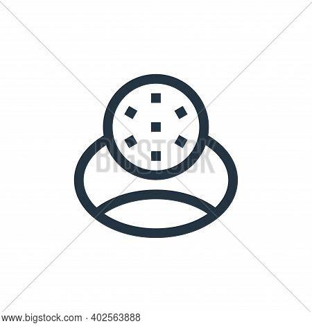 hole icon isolated on white background. hole icon thin line outline linear hole symbol for logo, web